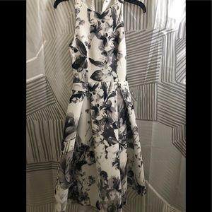 Asos floral high-low dress